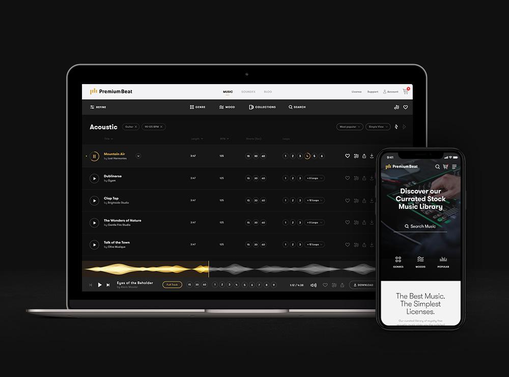 PremiumBeat Website